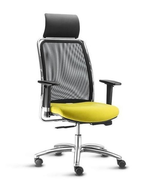Cadeira Premium Tela c/Encosto de Cabeça