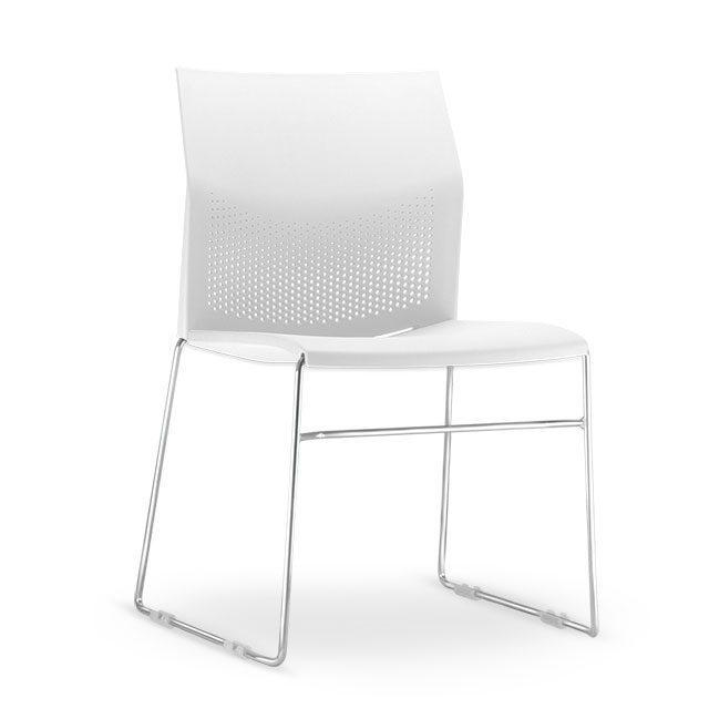 Cadeira Flour Base Cromada - Branco