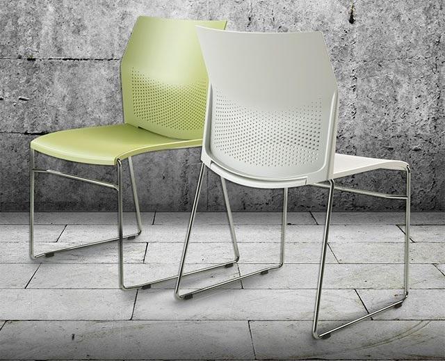 Cadeira Flour Base Cromada -