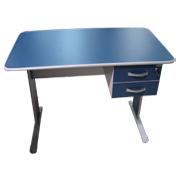 Mesa 1.20x0.60m c/02 Gavetas PROMOÇÃO - Azul / Cinza