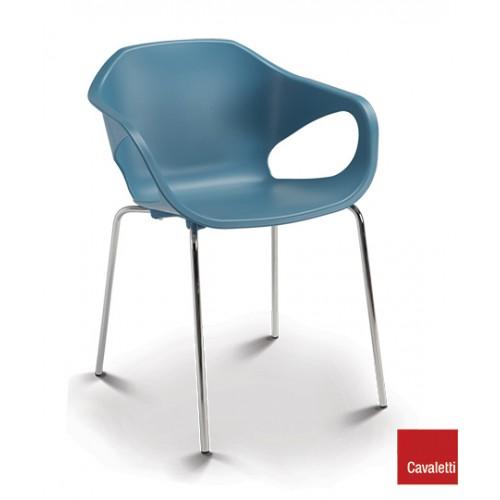 Cadeira Fixa Stay 4P CR - Azul