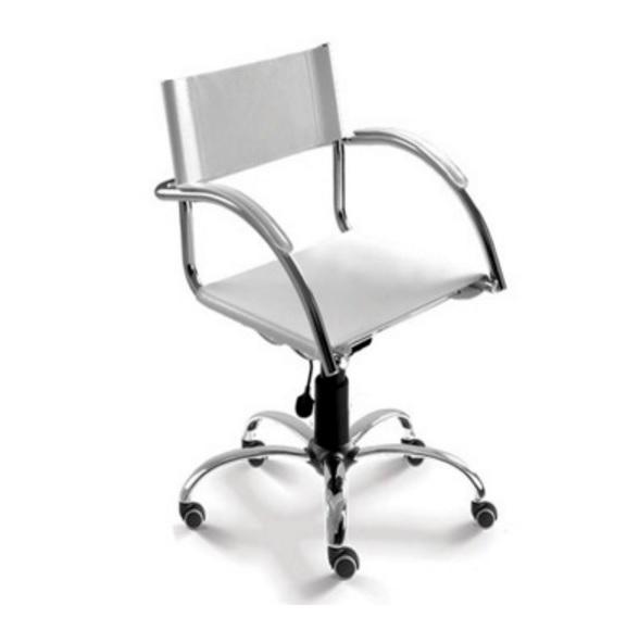 Cadeira Secretária Giratória Cavaletti Chroma - 14004 Elíptica