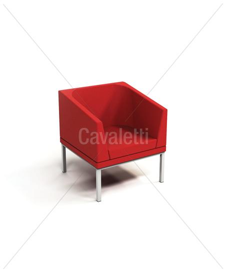 Cavaletti Talk - Poltrona Braço Duplo e Encosto 36505
