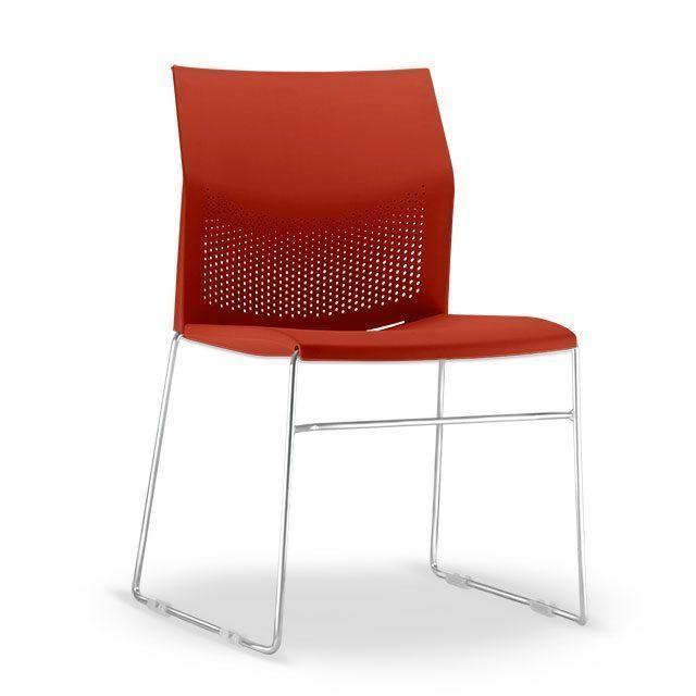 Cadeira Flour Base Cromada