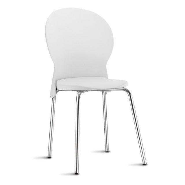 Cadeira Prince Fixa Base Cromada