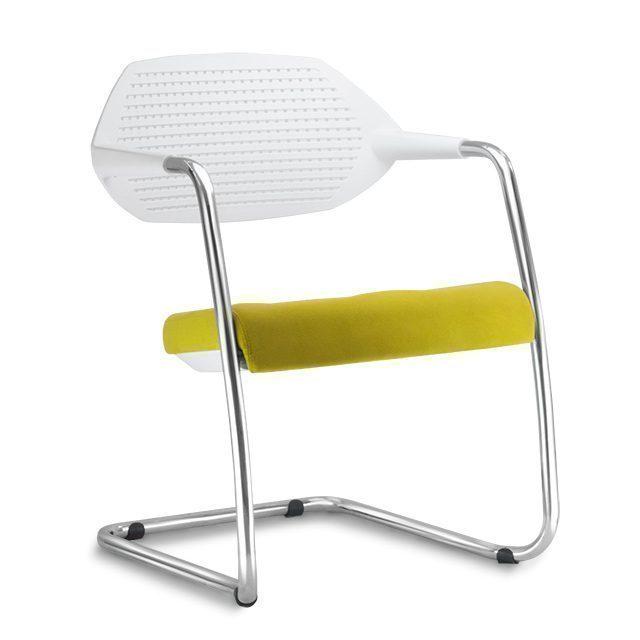 Cadeira Flex Fixa Base Cromada